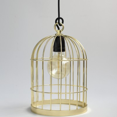 Lampe baladeuse cage à oiseau dorée : FilamentStyle