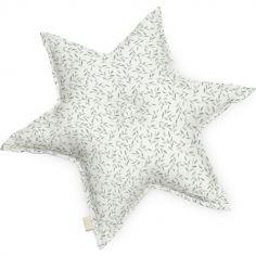 Coussin étoile Green Leaves (48 cm)