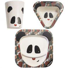 Coffret repas en bambou Rototos le panda (3 pièces)