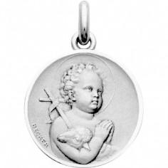 Médaille Enfant Saint Jean  (or blanc 750°)
