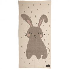 Tapis rectangulaire lapin (70 x 140 cm)