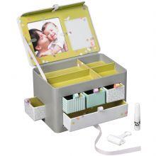 Boîte à trésors avec empreinte grise  par Baby Art