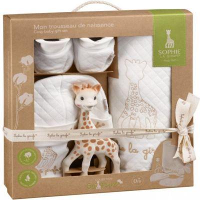 Coffret cadeau Mon trousseau de naissance Sophie la girafe So'pure  par Sophie la girafe