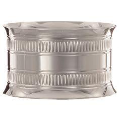 Rond de serviette Godron 2 rangs personnalisable (métal argenté) dans son coffret