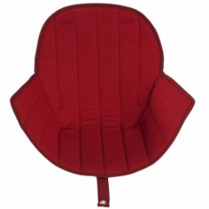 Assise tissu chaise haute Ovo Luxe rouge