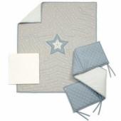Coffret cadeaux pour le lit Millie & Boris bleu (3 pièces) - Mamas and Papas