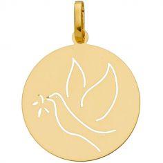 Médaille baptême de républicain Colombe (or jaune 750°)