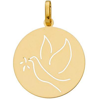 Médaille baptême de républicain Colombe (or jaune 750°)  par Berceau magique bijoux