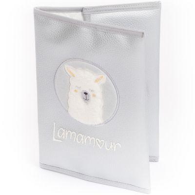 Protège carnet de santé gris Lamamour  par Nougatine