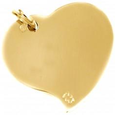 Pendentif coeur 17 mm (or jaune 750°)