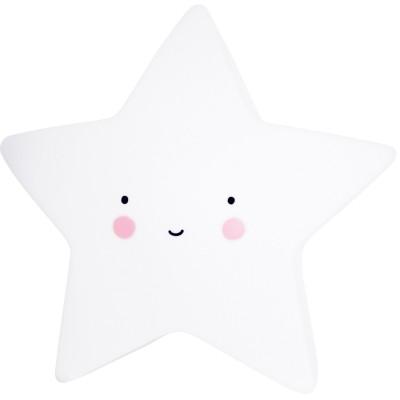 Petite veilleuse étoile blanche  par A Little Lovely Company