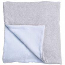 Couverture bébé en coton et polyester Perle de riz bleu (100 x 140 cm)  par Nougatine