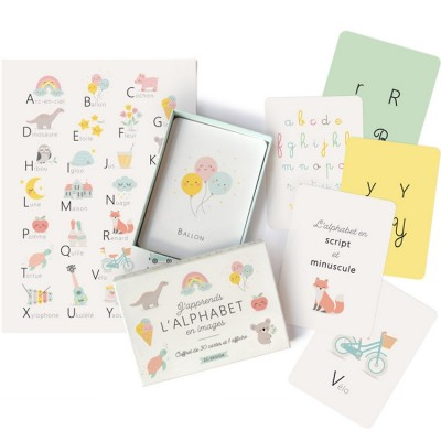 Coffret J'apprends l'alphabet en images  par Zü