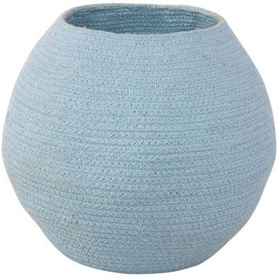 Panier de rangement en coton boule Tribute to Cotton bleu (27 x 30 x 30 cm)  par Lorena Canals