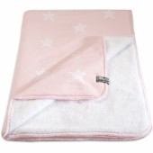 Couverture Star Soft rose et blanc (100 x 130 cm) - Baby's Only
