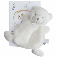 Doudou plat ours blanc Le Doudou (19 cm)