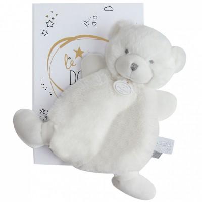 Doudou plat ours blanc Le Doudou (19 cm) Doudou et Compagnie
