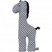Peluche girafe Sun blanc et noir (40 cm) - Baby's Only