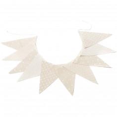 Guirlande de fanions lin et blanc