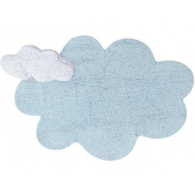 Tapis lavable Puffy Dream bleu (110 x 170 cm)  par Lorena Canals