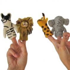 Marionnettes à doigts animaux d'Afrique