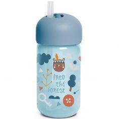 Gourde à paille Into the forest bleu (340 ml)
