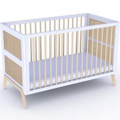 Pack duo lit bébé évolutif et côtés de lit Marelia blanc neige (70 x 140 cm)