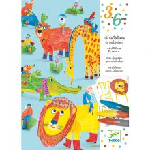 Minis totems à colorier Tous copains (3 éléments)  par Djeco