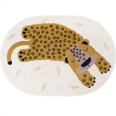 Tapis ovale léopard Kleo miel (120 x 170 cm)