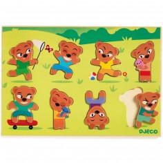 Puzzle d'encastrement Teddymatch (8 pièces)