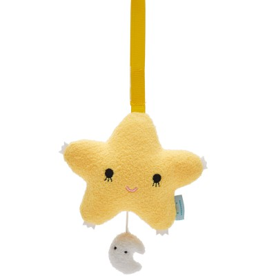 Etoile musicale à suspendre Ricetwinkle jaune (14 cm) Noodoll