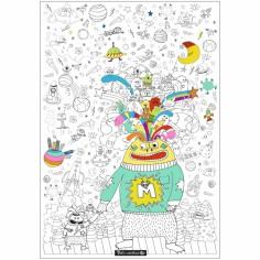 Poster géant à colorier monstres de l'espace (70x100cm)