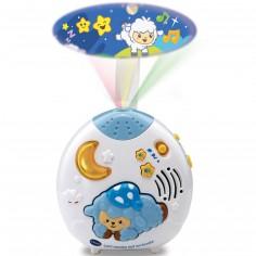 Veilleuse musicale à projection Lumi mouton nuit enchantée bleu