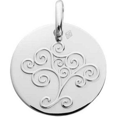 Médaille Arbre de vie 16 mm (or blanc 750°)  par A.Augis