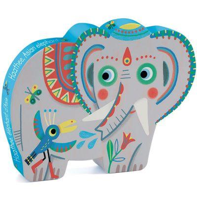 Puzzle éléphant d'Asie Haathee (24 pièces)  par Djeco