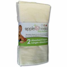 Lot de 2 inserts pour couche lavable en bambou et coton bio