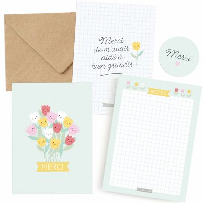 Kit cadeau Merci pour maîtresse / nounou / ATSEM  par Zü