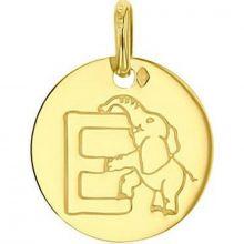 Médaille E comme éléphant (or jaune 750°)  par A.Augis