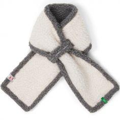 Écharpe écru et gris Teddy (0-12 mois)