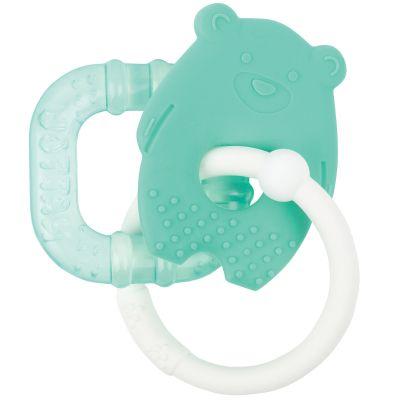 Anneau de dentition réfrigéré Ours vert  par Nattou