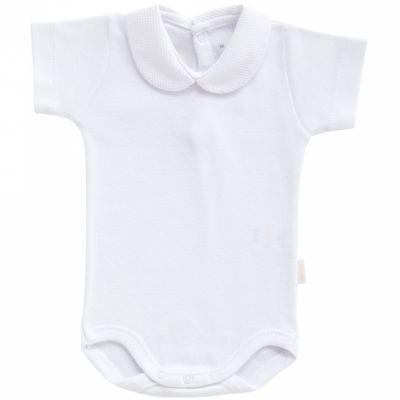 Body col manches courtes blanc (3 mois : 62 cm)  par Cambrass