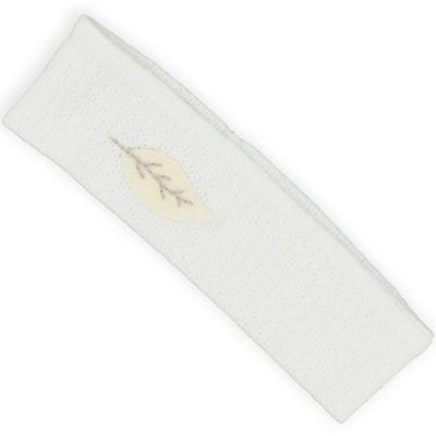 Bandeau en maille ajourée écru coton bio (0-3 mois)  par Graine d'amour