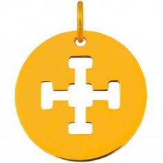 Médaille Signes Croix de Jérusalem 16 mm (or jaune 750°)