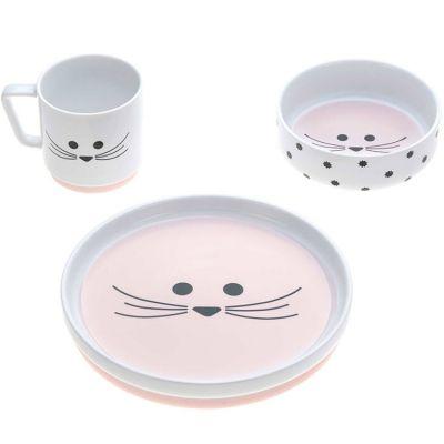 Coffret repas en porcelaine souris Little Chums (3 pièces)  par Lässig