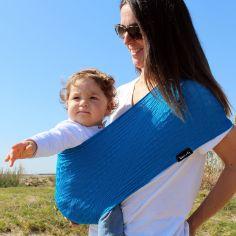 Porte bébé Easy Sling Wacotto bleu électrique (taille S)