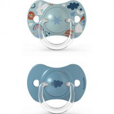 Lot de 2 sucettes symétriques SX PRO Into the forest bleu (6-18 mois)