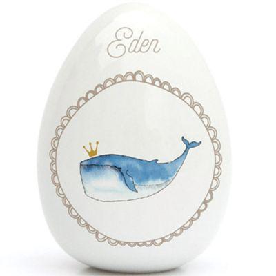 Oeuf en porcelaine baleine (personnalisable)