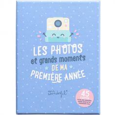 Cartes étapes de bébé Ma première année (45 cartes)
