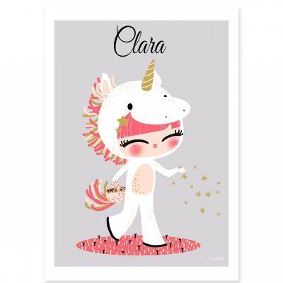 Affiche A3 Les adorables costumés La licorne (personnalisable)  par Kanzilue