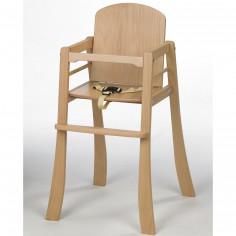 Chaise haute bois naturel Mucki